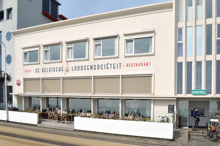 Aanzicht van ons hotel & restaurant de Belgische Loodsensociëteit